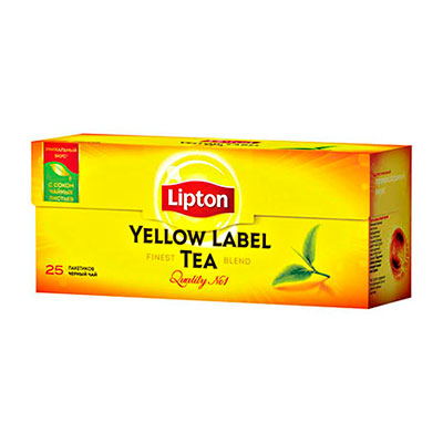Чай Lipton черный Yellow label 25 пак